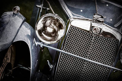 Photograph - 1932 Mg F1 Magna Grille -1363ac by Jill Reger
