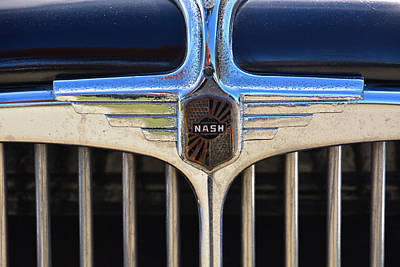 1932 Nash 980 Emblem Art Print by Mike Martin