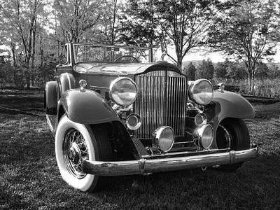 Photograph - 1932 Packard Phaeton Bw by David King