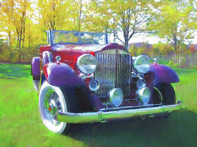 Digital Art - 1932 Packard Phaeton Dop by David King