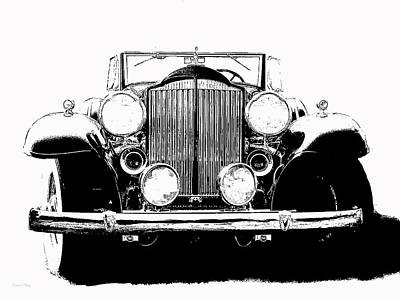 Automotive Painting - 1932 Packard Pop Art Ink by David King