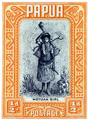 Painting - 1932 Papua Motuan Stamp by Historic Image