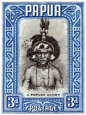 Painting - 1932 Papuan Dandy Stamp by Historic Image