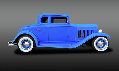 Photograph - 1932 Pontiac 5 Window Coupe  -  1932pontiac5wincpefa183891 by Frank J Benz