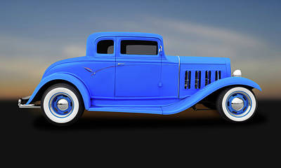 Photograph - 1932 Pontiac 5 Window Coupe  -  1932pontiac5windowcoupe183891 by Frank J Benz