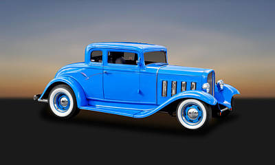 Photograph - 1932 Pontiac Coupe   -  32pontcp450 by Frank J Benz