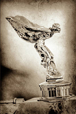 Photograph - 1932 Rolls-royce Phantom II Sedanca De Ville Hood Ornament -1599s by Jill Reger