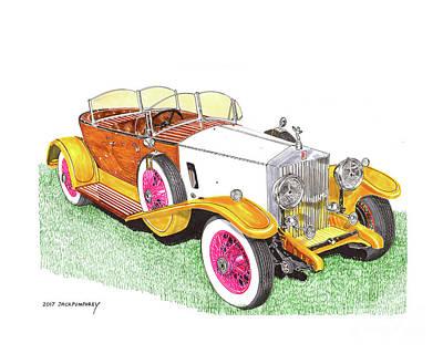 Painting - 1932 Rolls Royce Phantom Skiff Tourer By Tanner by Jack Pumphrey