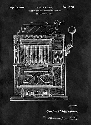 Quarters Mixed Media - 1932 Slots Patent by Dan Sproul