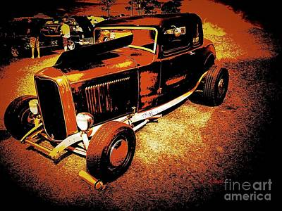 Photograph - 1932 Vintage Ford by Anne Sands