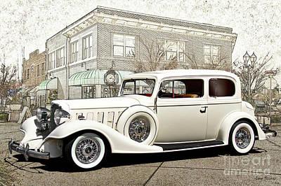 Automotive Art Series Wall Art - Photograph - 1933 Buick Series 86 Victoria 'cornerstone' by Dave Koontz