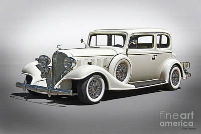 Automotive Art Series Wall Art - Photograph - 1933 Buick Series 86 Victoria 'studio' I by Dave Koontz