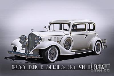 Automotive Art Series Wall Art - Photograph - 1933 Buick Series 86 Victoria 'studio' II by Dave Koontz