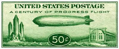 Painting - 1933 Century Of Progress Stamp by Historic Image