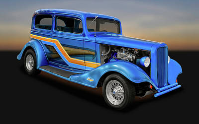 Photograph - 1933 Chevrolet Eagle 2 Door Sedan  -  1933cheveagsed9866 by Frank J Benz