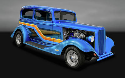 Photograph - 1933 Chevrolet Eagle 2 Door Sedan  -  33chev2drsedgry9866 by Frank J Benz