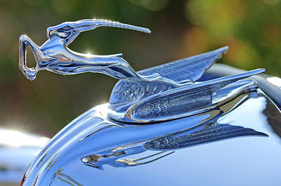1933 Chrysler Imperial Hood Ornament 2 Art Print by Jill Reger