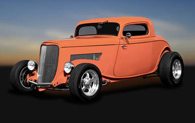 Photograph - 1933 Ford 3 Window Coupe  -  1933ford3windowcoupe172162 by Frank J Benz