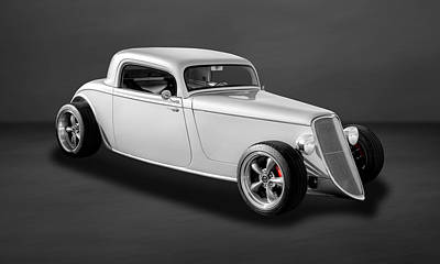 Photograph - 1933 Ford 3-window Coupe  -  33fd3win850 by Frank J Benz
