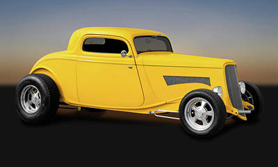 Photograph - 1933 Ford 3 Window Coupe  -  33fd3wincpe9669 by Frank J Benz