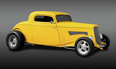 Photograph - 1933 Ford 3 Window Coupe  -  33fdcpe3wfa9669 by Frank J Benz