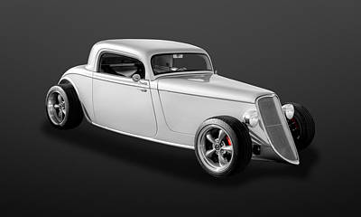 Photograph - 1933 Ford 3-window Coupe  -  33fdcpe750 by Frank J Benz
