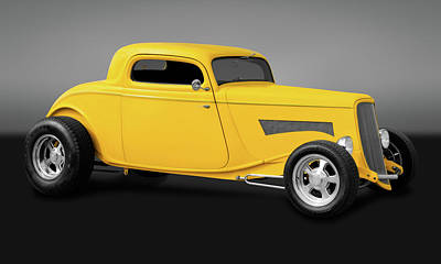 Photograph - 1933 Ford 3 Window Coupe  -  33fdcpegry9669 by Frank J Benz