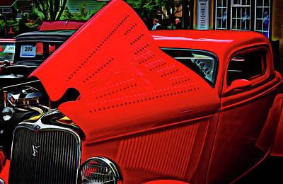 Digital Art - 1933 Ford 3 Window Coupe by Richard Farrington
