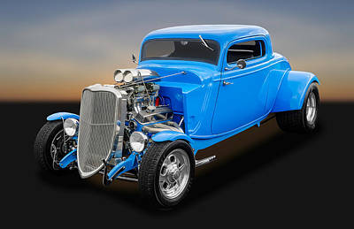 Photograph - 1933 Ford 3 Window Coupe - Yes, It Is Fast   -   1933fd3wincpe650 by Frank J Benz