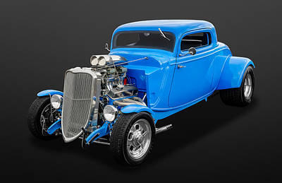 Photograph - 1933 Ford 3-window Coupe-yes It Is Fast  -  33fdcp3win750 by Frank J Benz