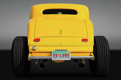 Photograph - 1933 Ford Coupe Rear Detail  -  33fdcoupegry9676 by Frank J Benz