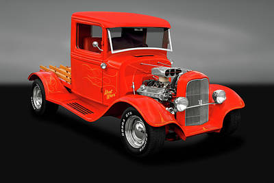 Photograph - 1933 Ford Pickup Truck  -  1933fordpickuptruckgry183988 by Frank J Benz