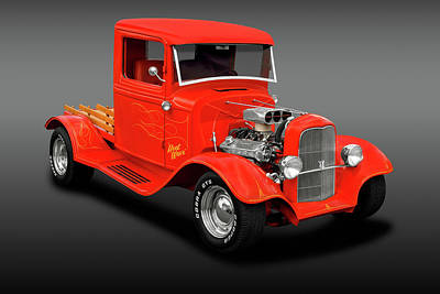 Photograph - 1933 Ford Pickup Truck  -  1933fordpickuptruckrdstrfa183988 by Frank J Benz