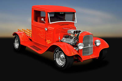 Photograph - 1933 Ford Pickup Truck  -  1933fordroadsterpickuptruck183988 by Frank J Benz