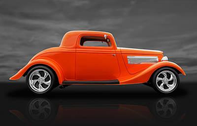 1933 Ford Three Window Coupe Art Print