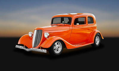 Photograph - 1933 Ford Tudor Sedan   -   33fdtudor450 by Frank J Benz