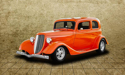 Photograph - 1933 Ford Tudor Sedan  -  33fordtudor750 by Frank J Benz