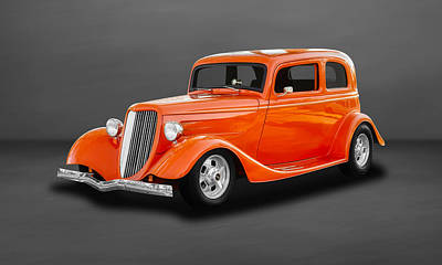 Photograph - 1933 Ford Tudor Sedan - 33fd2door650 by Frank J Benz