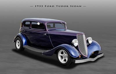 Ford Tudor Photograph - 1933 Ford Tudor Sedan Street Rod by Frank J Benz