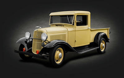 Photograph - 1933 Ford V8 Pickup Truck  -  1933fordpickuptruckspottext184348 by Frank J Benz