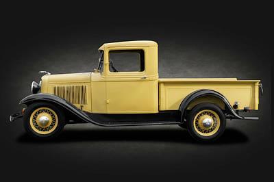Photograph - 1933 Ford V8 Pickup Truck  -  1933fordv8pickupspottext184347 by Frank J Benz