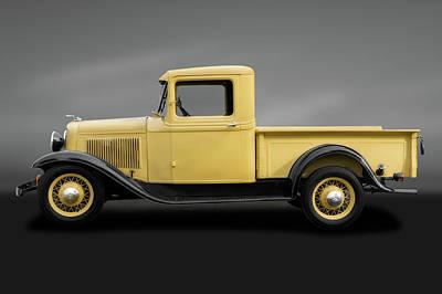 Photograph - 1933 Ford V8 Pickup Truck  -  1933v8fordpickupgray184347 by Frank J Benz