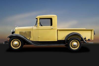Photograph - 1933 Ford V8 Pickup Truck  -  1933v8fordpickuptruck184347 by Frank J Benz