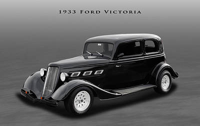 Ford Tudor Photograph - 1933 Ford Victoria Sedan by Frank J Benz