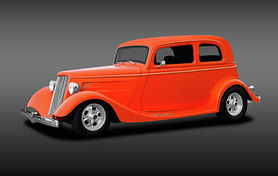 Photograph - 1933 Ford Victoria Tudor Sedan   -  1933ford5windowsedanfa184123 by Frank J Benz