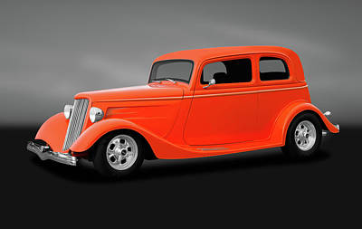 Photograph - 1933 Ford Victoria Tudor Sedan   -  1933fordvictoriasedangry184123 by Frank J Benz