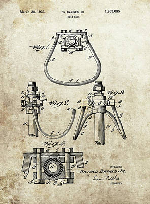 Animals Drawings - 1933 Horse Rack Patent by Dan Sproul