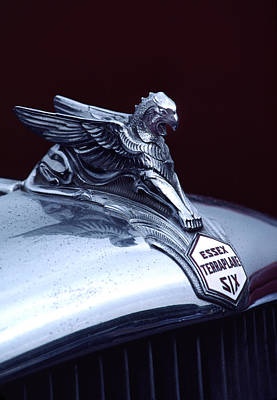 1933 Hudson Essex Terraplane Griffin Hood Ornament Art Print by Carol Leigh