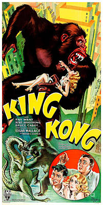 Armstrong Photograph - 1933 King King Movie Poster by Jon Neidert