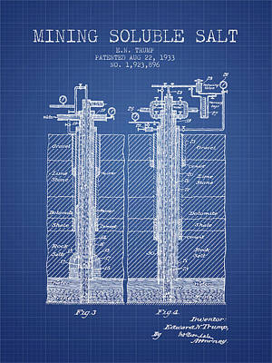 Machinery Digital Art - 1933 Mining Soluble Salt Patent En40_bp by Aged Pixel